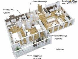 3 комнатная квартира Alytuje, Vidzgiryje, Santaikos g.