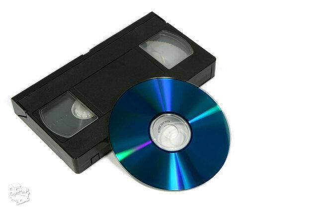 VHS kasečių perrašymas į DVD/USB