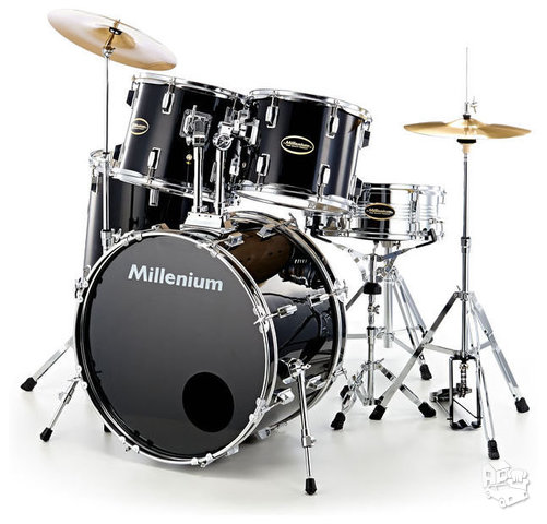 Būgnai MILLENIUM MX222BX STANDARD SET BLACK