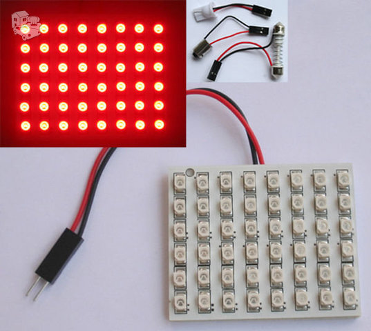 48 LED SMD universalus apšvietimas 12 V