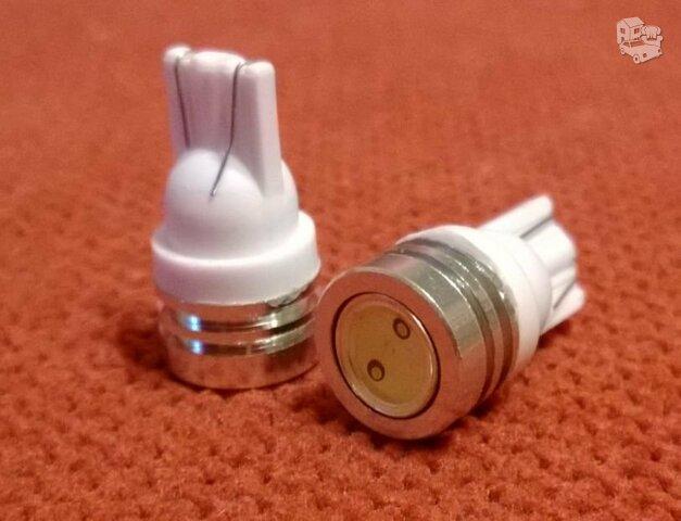 4 x LED T10 1W W5W SMD balta 12 V