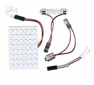 48 LED SMD T10 W5W 12V baltos spalvos