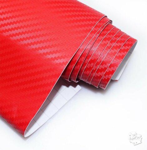 Raudonas - RED CARBON 60 x ~90 cm
