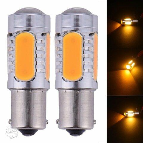 LED posukiu COB lempos 2 vnt (arba 4 vnt)