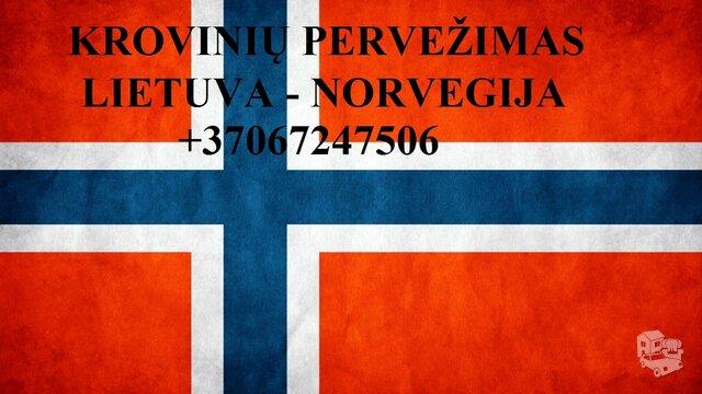Tarptautiniai perkraustymai Lietuva-NORVEGIJA-Lietuva