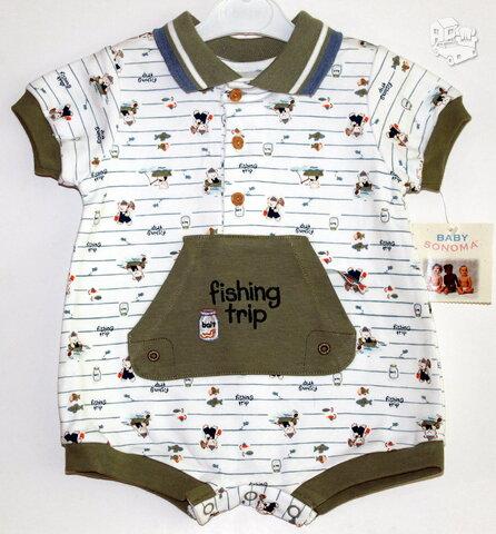 Stilingas romperiukas kūdikiui iki 3 mėn.