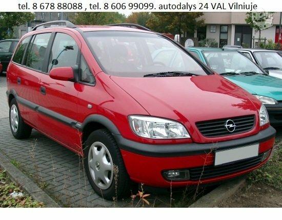 Opel Zafira automobilių dalys. Opel daliu parduotuve