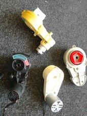 Elektra varomu vaikiškų lauko mašinų reduktoriai su varikliais.