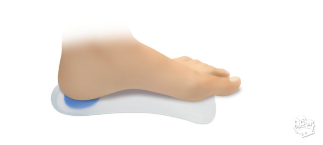 Silikoniniai ¾ pėdos ilgio avalynės įdėklai su išilginio