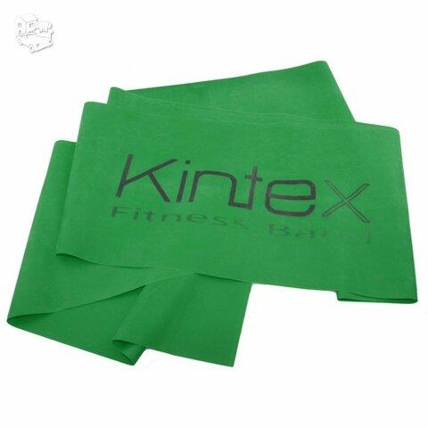 Juosta mankštai Kintex, be latekso, žalia, 1,8m.