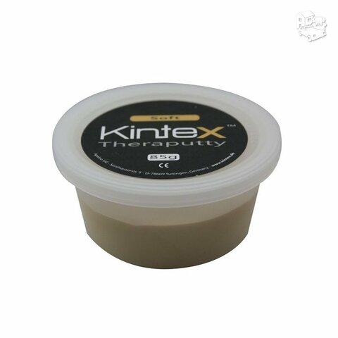 Ergoterapinė masė Kintex, be latekso, rusvai gelsva