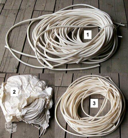 Guminiai ir PVC vamzdeliai, skirti laidu izoliavimui