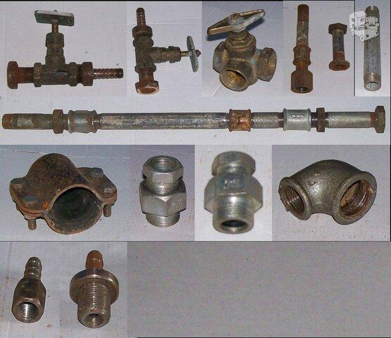 Metalinės jungiamosios armatūros dalys
