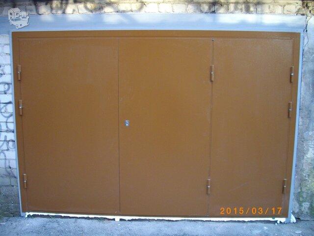 Šarvuotos, metalinės durys, sandėliuko durys, garažo vartai