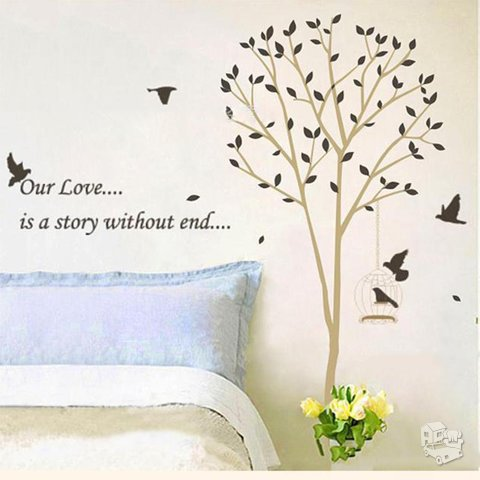Sienos lipdukas Medis Our Love... is a story without end...