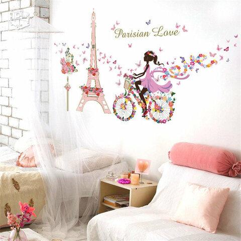 Sienos lipdukas Romantic Paris