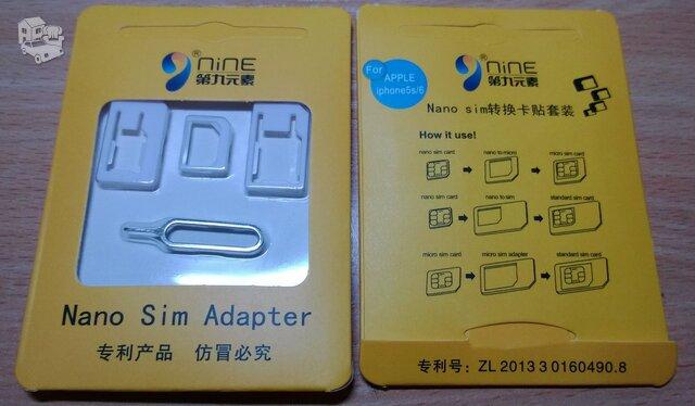 Nano Micro SIM iphone 5S 5 4S 4 t.t.