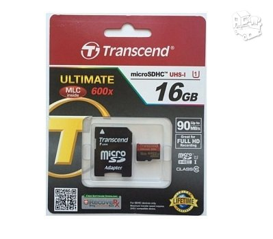Transcend micro SD 16gb 90mb/s