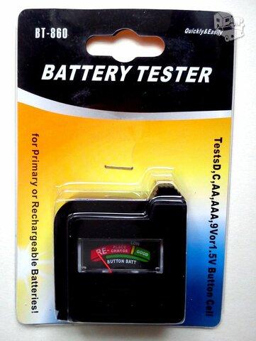 Baterijų akumuliatorių testeris/tikrintojas